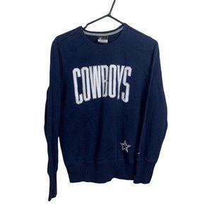 Dallas Cowboys Nike Sweatshirt Mens Size M Blue Pullover Cotton-Blend